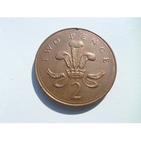Moeda Inglesa Two Pence 1997