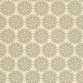 Guardanapo Flower Rosettes Cream, 33x33 Cm - Paper Design