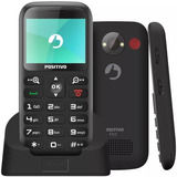 Telefone Para Idoso Positivo P65 Câmera Vga 32 Mb Preto