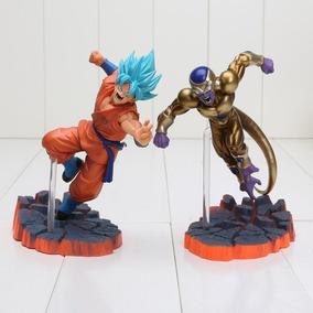 Kit 2 Figure Action Goku Vs Freeza Com Caixa Original