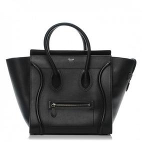 Bolsa Celine Luggage Preta Couro Legítimo C/ Código - Top