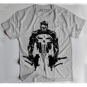 88fd618130f9f Camisa Camiseta Justiceiro Marvel Punisher Frank Castle Hq