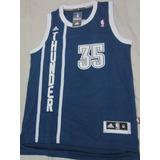 Camisa Oklahoma Thunder Kevin Durant Azul Escuro 7d73ad5e10d