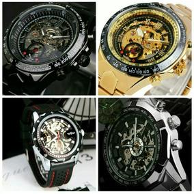 f57d3f22a46 Relógio Masculino Winner Dourado Automático Promoção Estojo