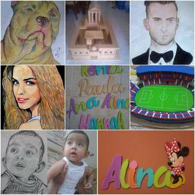 Maquetas, Nombres En Mdf, Pinturas Y Dibujos