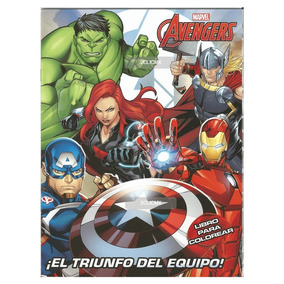 Libros Colorear Marvel Avengers 16 Pg Triunfo Equipo Fiesta