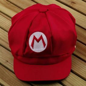 Boné Chapéu Boina Mario Bros Cosplay Fantasia Pronta Entrega