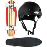 Skate Mini Long Red Nose 444200 + Capacete M Mormaii 497900