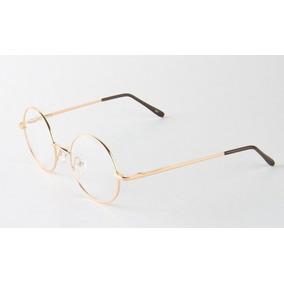 322420964293e Armação De Oculos Estilo Harry Potter - Óculos Dourado no Mercado ...