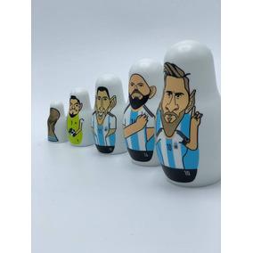Figuras Seleccion Argentina Mamushkas Originales Caja Messi