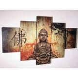 Cuadro Decorativos Buda En 5 Piezas