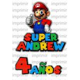 Logos Personalizados Super Mario Bros