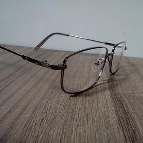 627bcfe7afc3c Armação Para Grau Metal Titanium Para Multifocal, Bifocal