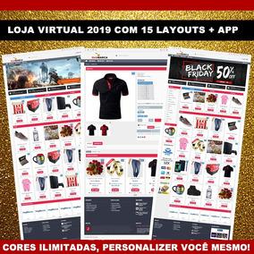 Loja Virtual Profissional 2019 + 15 Layouts + App Android M1