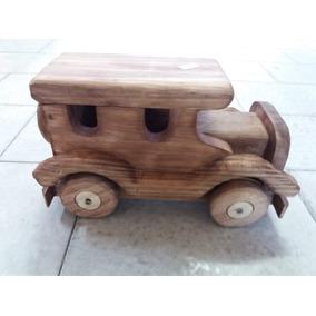 Carrinho Brinquedo Retro Madeira Enfeite Decorativo Classico