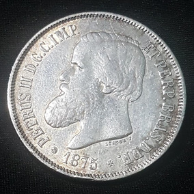 Moeda 2.000 Réis 1875 3º Tipo - Data Difícil