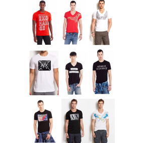 Playeras Armani Exchange Caballero Cuello Fotos Reales C2-56