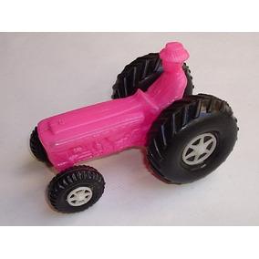 Mini Trator Agrícola Brinquedo Antigo Plástico Soprado Bolha