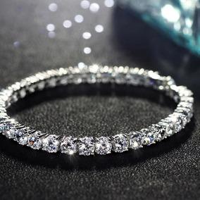 Pulsera Dama Con Cristales Y Zirconias Aaa Mide 19cms