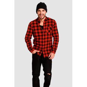 c5a4a9e35abae Camisa Cuadros Roja - Camisas Casuales Manga Larga en Mercado Libre ...