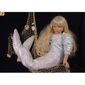 Sereia Boneca Porcelana Alemã Coleção Masterpiece Dolls