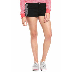 Short Negro Con Dibujos Dc Shoes Talla 26