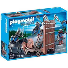 Novo Playmobil 5978 Blue Knights Battering Ram Caval Castelo