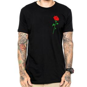 Camisa Camiseta Masculina Flor Rosa Tumblr Top Swag Gang 7acd1800947c2
