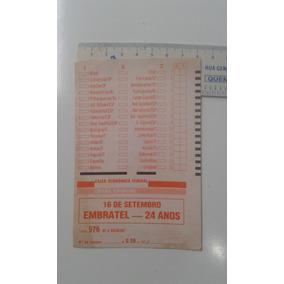Volante Antigo 976 De Loteria Esportiva 02/09/89