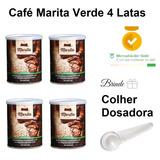 Café Marita Verde Kit 4 Latas Brinde 1 Colher Dosadora