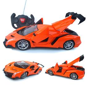 Carro Controle R Automodelo Abre Portas Bateria Recarregável