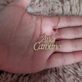 1 Gargantilha / Colar De Nome 0,6mm, Banhada / Folheado Ouro