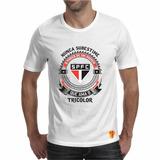 Camiseta São Paulo Masculina Nunca Subestime Amor Futebol