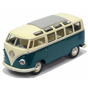 Miniatura Volkswagen Kombi Clássica 1962 Azul 1/24