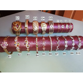 Brazalete Pulsera Oro Laminado 22 Kilates Dama Regalo Mujer