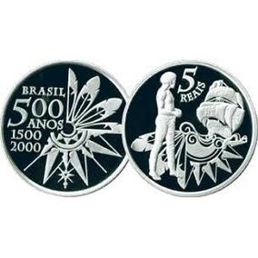 Moeda Comemorativa 500 Anos Do Descobrimento Do Brasil Prata