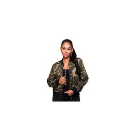 Jaqueta Bomber Militar Camuflada Inverno 2019 Roupa Feminina
