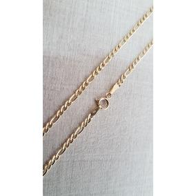 Cordão Corrente Masculino 3x1 60cm Em Ouro 18k 750