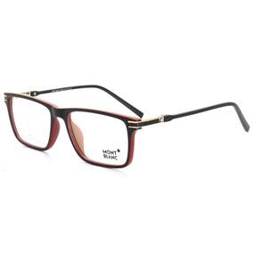 6df023124f594 Armação Óculos De Grau Masculino Mont Blanc Mb568 Acetato