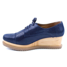 Zapato Casual Plataforma Madera Gösh