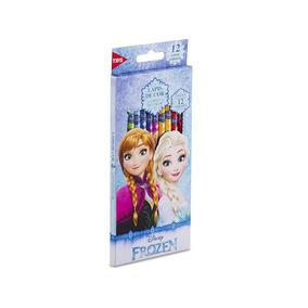 Lápis De Cor Frozen Personalizado 12 Cores Disney Tris