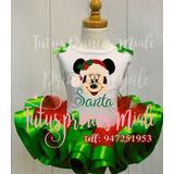 Tutu Tutus Niña Navidad Minnie Noel Disfraz Vestido Bebe