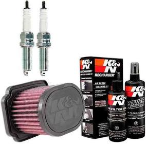 Filtro Ar K&n K N + Kit Limpeza + Velas Lmar8a-9 Mt-07 Mt07