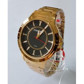 Relógio Masculino Dourado Mondaine Original 83439gpmvde2.