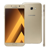 Samsung Galaxy A7 2017 4g 32gb 16mp Dourado Semi Novo