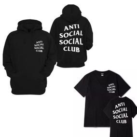Kit Moletom Blusão + Camiseta Anti Club Social