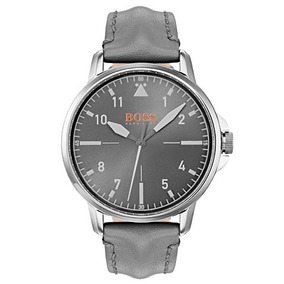 Relógio Hugo Boss Masculino Couro Cinza