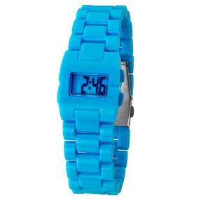 Relógio Feminino Digital Cosmos Os48649a - Azul