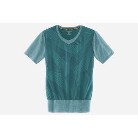 Camiseta Brooks Fly-by Ss V Neck Dama Talla M Verde