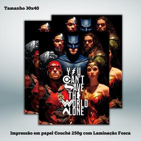 Poster Liga Da Justiça - 30x40 Cm
